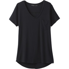 Prana Foundation Short Sleeve V Neck Shirt Women black